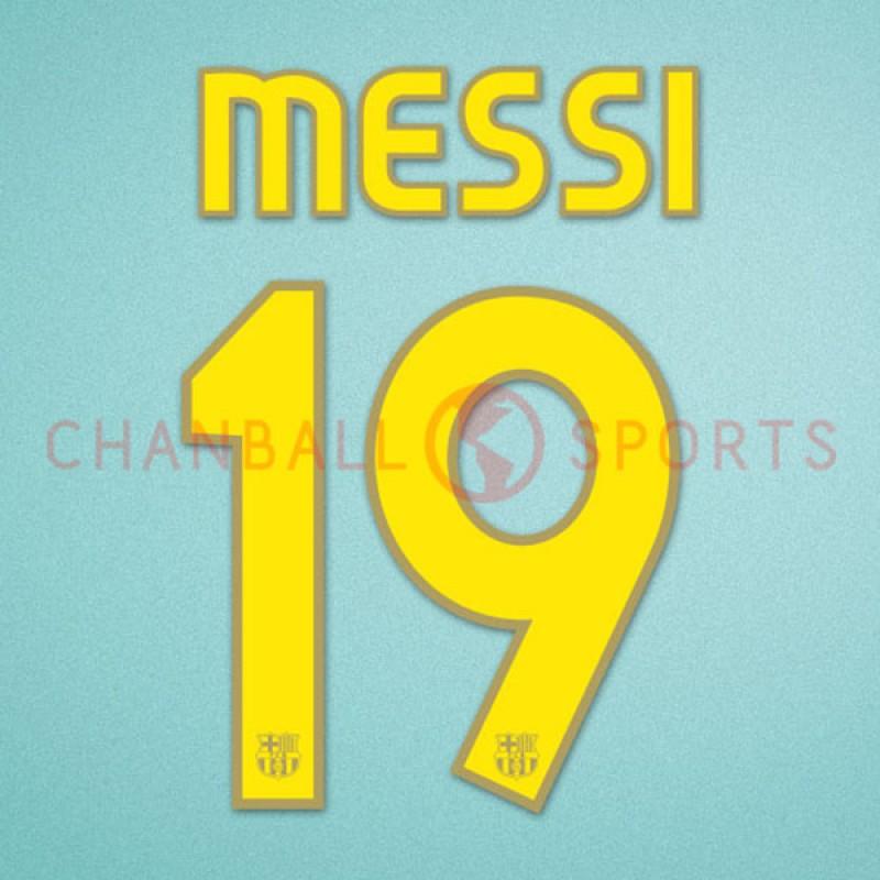 Barcelona 2007-2008 Messi #19 Homekit Nameset Printing