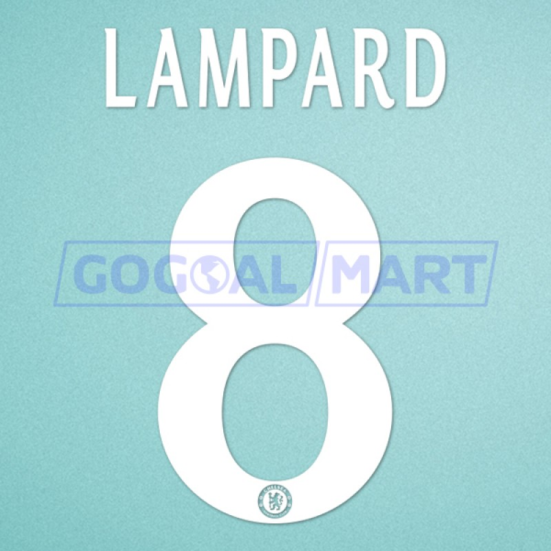 Chelsea 2013-2015 Lampard #8 Champions League Homekit Nameset