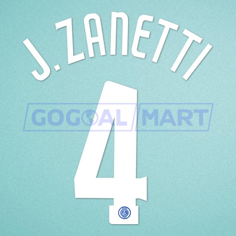 Inter Milan 2006-2007 Zanetti #4 Homekit Nameset Printing