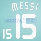 Argentina 2008 Messi #15 Olympic Beijing Awaykit Nameset Printing