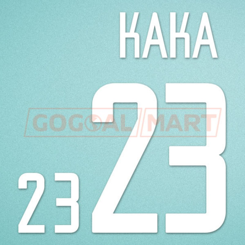 Brazil 2002 Kaka #23 World Cup Awaykit Nameset Printing
