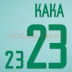 Brazil 2002 Kaka #23 World Cup Homekit Nameset Printing