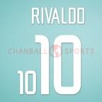 Brazil 2002 Rivaldo #10 World Cup Awaykit Nameset Printing