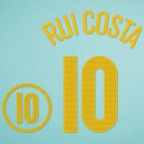 Portugal 2004 Rui Costa #10 EURO Homekit Nameset Printing