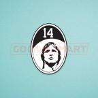 Ajax Johan Cruyff #14 2016 Commemorative Soccer Patch / Badge