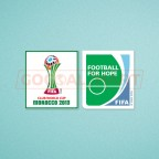 FIFA Club World Cup Morocco 2013 + Football For Hope Sleeve Soccer Patch / Badge