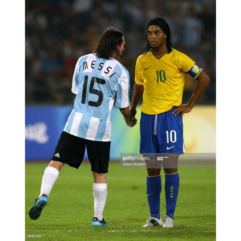Argentina 2008 Messi #15 Olympic Beijing Homekit Nameset Printing