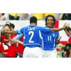 Brazil 2002 Cafu #2 World Cup Awaykit Nameset Printing