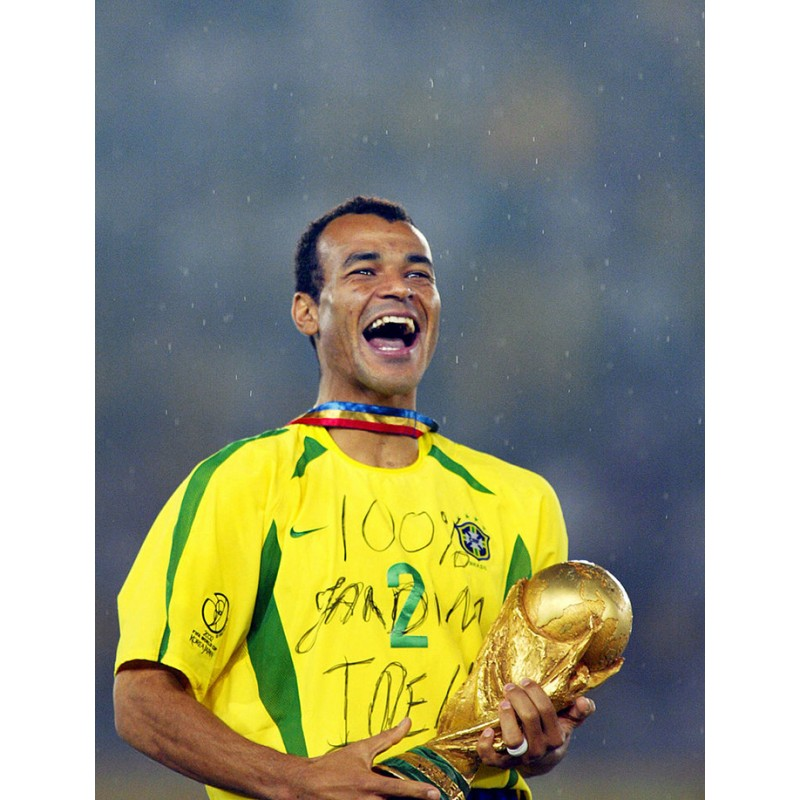 Brazil 2002 Cafu #2 World Cup Homekit Nameset Printing