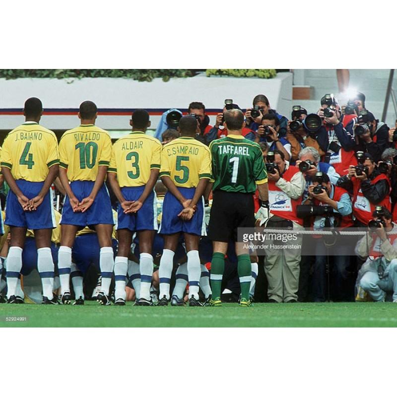 Brazil 1998 Rivaldo #10 World Cup Homekit Nameset Printing