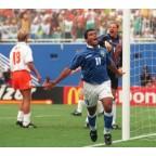 Brazil 1994 Romario #11 World Cup Awaykit Nameset Printing