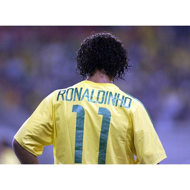 Brazil 2002 Ronaldinho #11 World Cup Homekit Nameset Printing