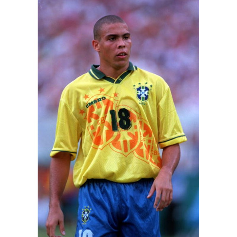 Brazil 1994 Ronaldinho #18 World Cup Homekit Nameset Printing