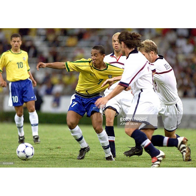Brazil 1998 Ronaldinho #7 World Cup Homekit Nameset Printing