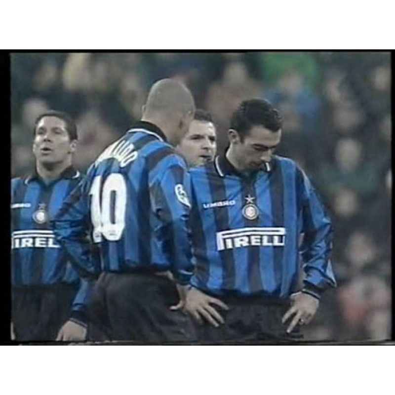 NOME+NUMERO UFFICIALE FC INTER 1997-1998 AWAY OFFICIAL NUMBERS PLAYER SIZE