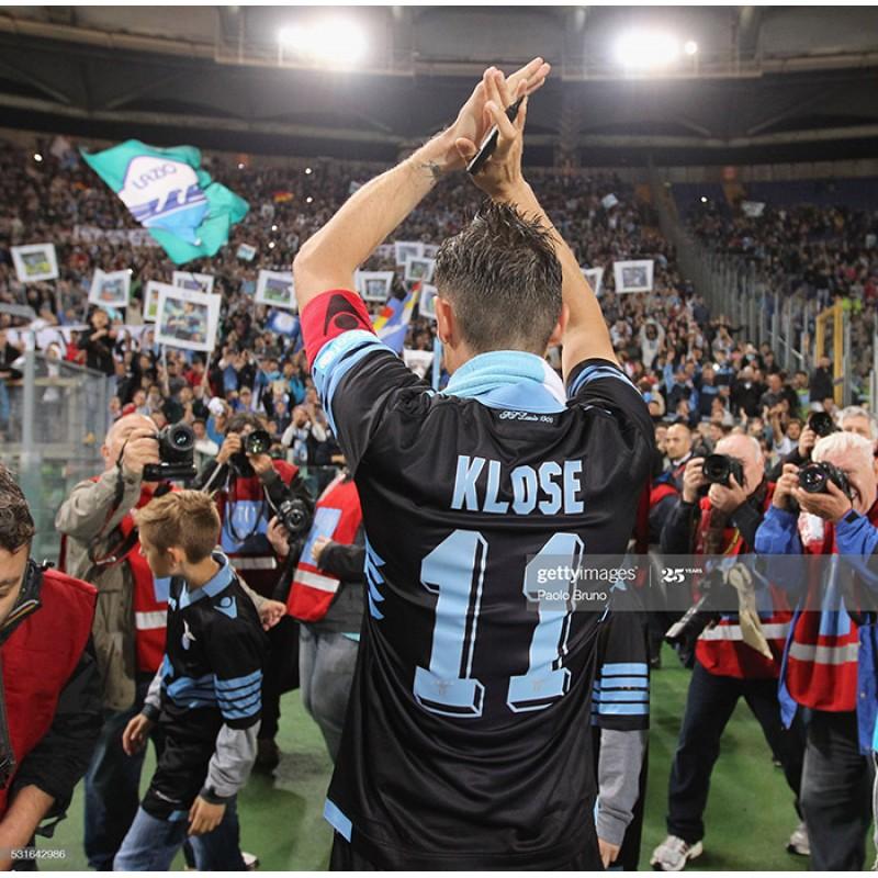 Lazio 2015-2016 Klose #11 Awaykit Nameset Printing