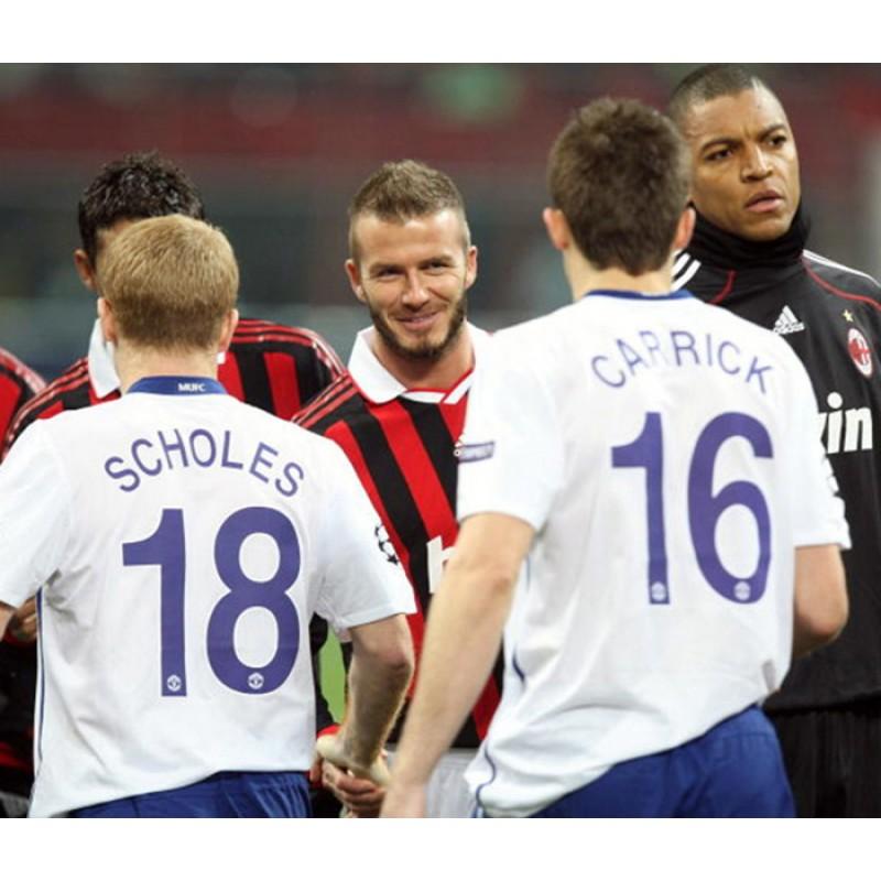 manchester united 2008 2009 scholes 18 champions league awaykit nameset printing manchester united 2008 2009 scholes 18